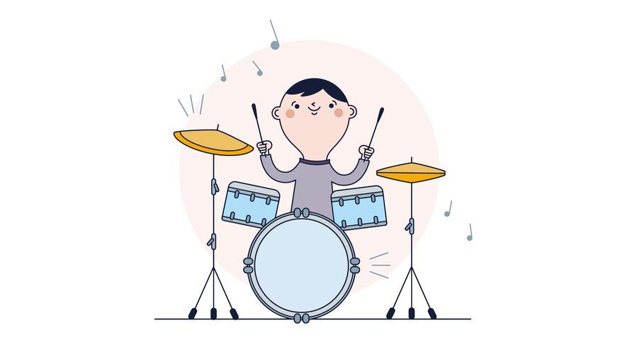 Vector de tambores