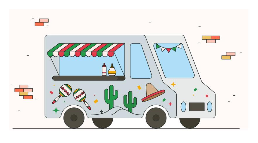 Vecteur de Foodtruck mexicain