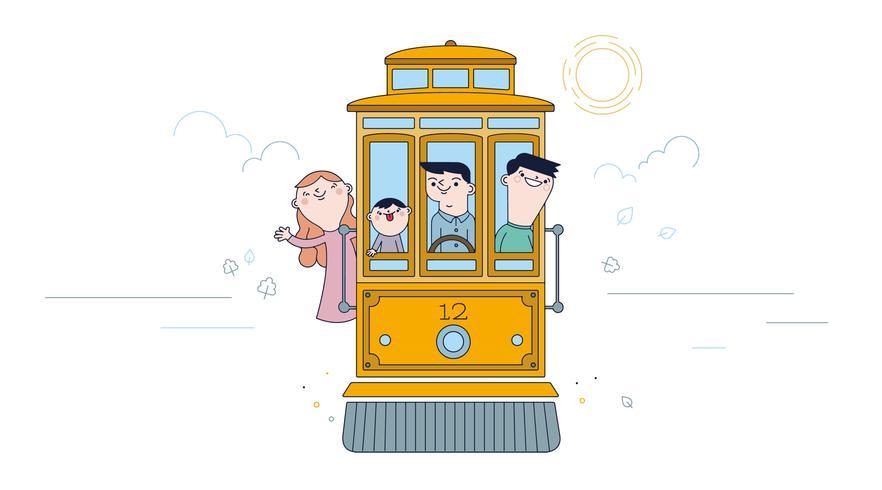 trolley vector