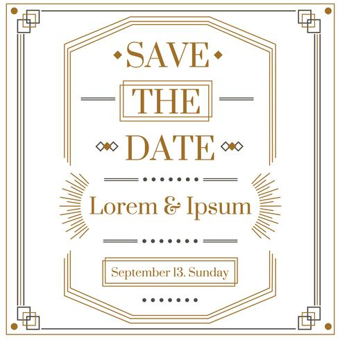 Art Deco Save The Date Vector Download Free Vector Art Stock