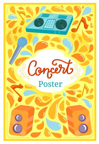 Concert Poster 2 Vecteurs