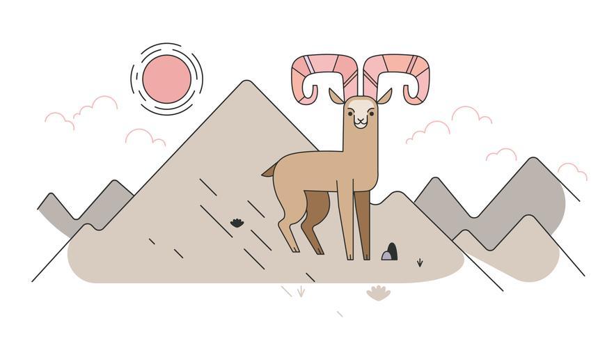 Vettore di capra di montagna