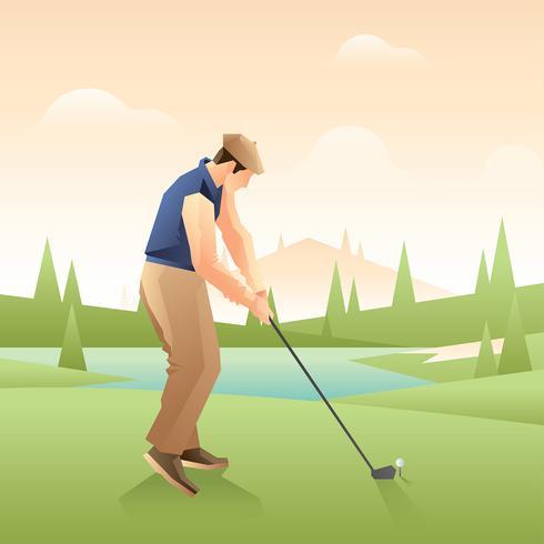 Vector de golf Vintage