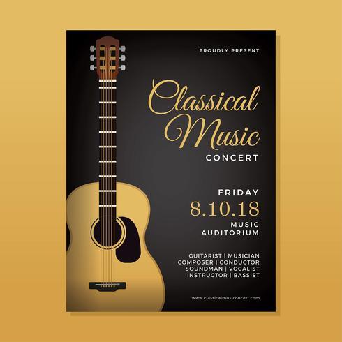 Vector de concierto de música clásica