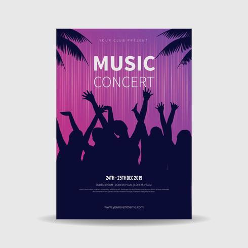 Vetor de cartaz de concertos