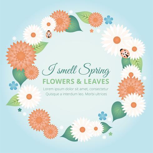 Ilustración de Vector de vacaciones de primavera