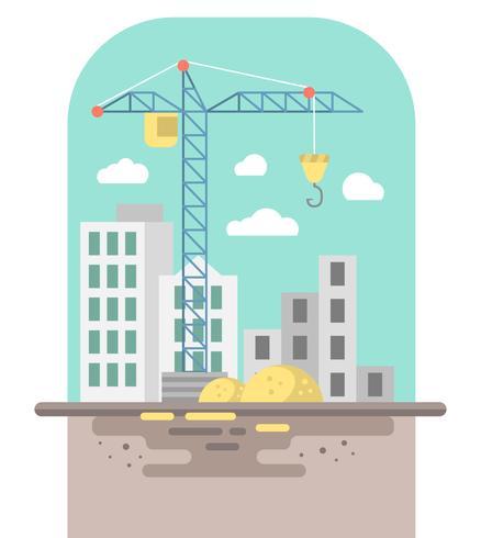 Flat Construction Illustration