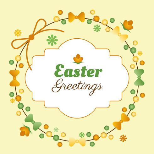 Páscoa Primavera Holiday Vector Background