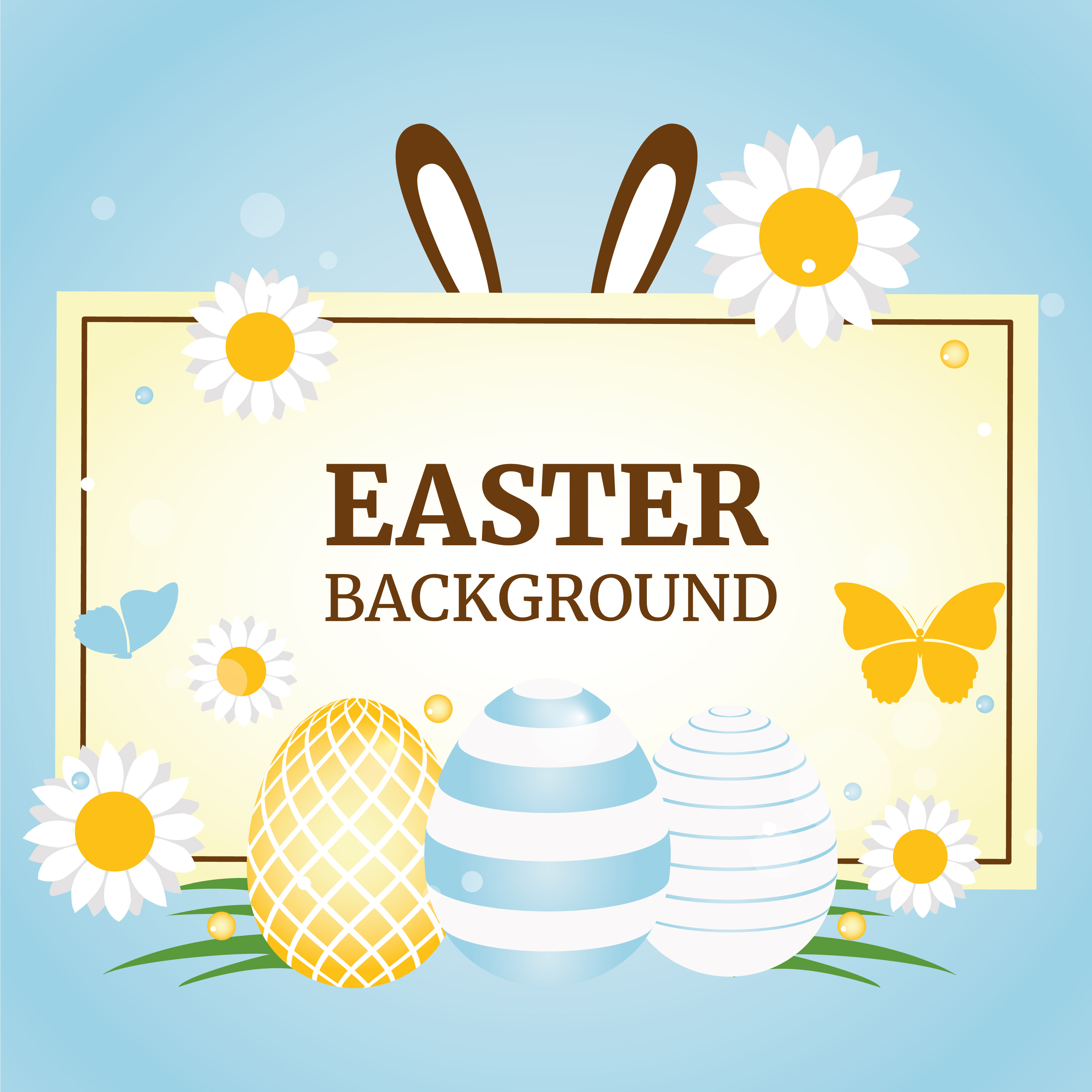 Easter Spring Holiday Vector Background - Download Free ...