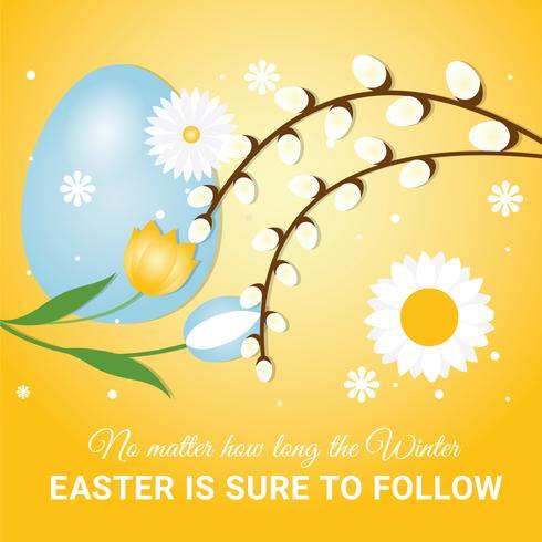 Elementos del vector de vacaciones de Pascua