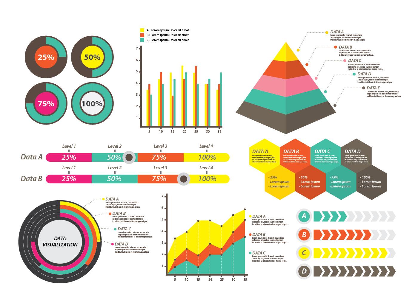 data visualization for presentation download free vector
