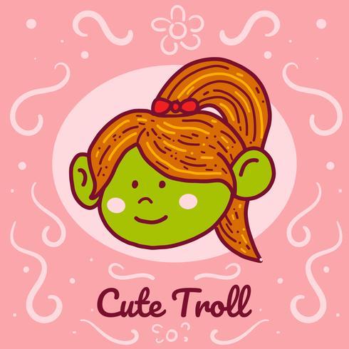 Vecteur de Troll mignon