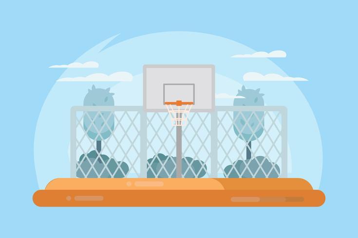 Vector de la cancha de baloncesto