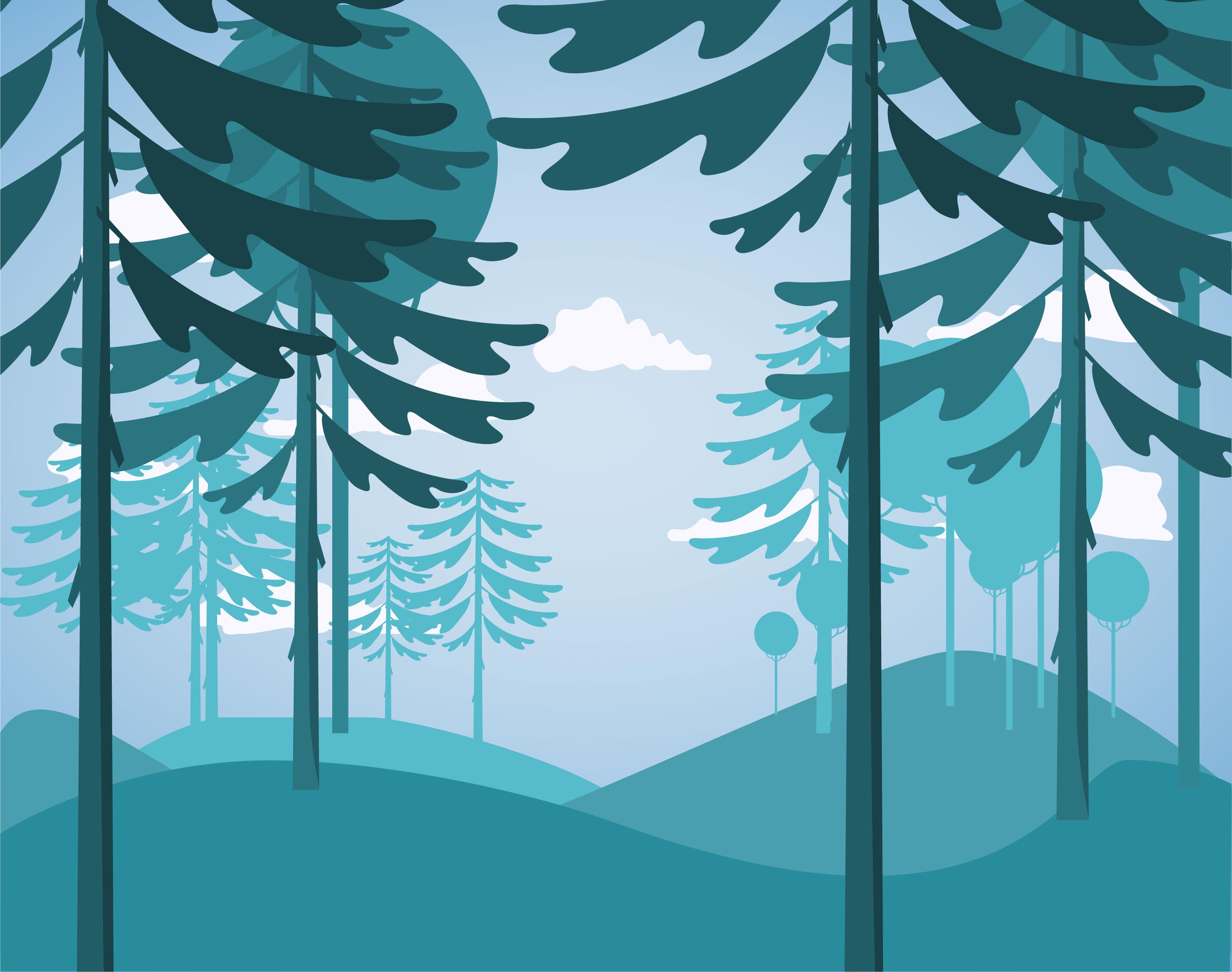 Landscape Illustration Vector Free: Flat Design Vector Landscape