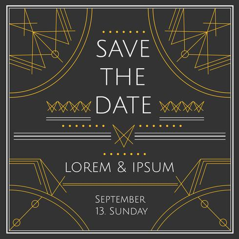 Save The Date Vector Card