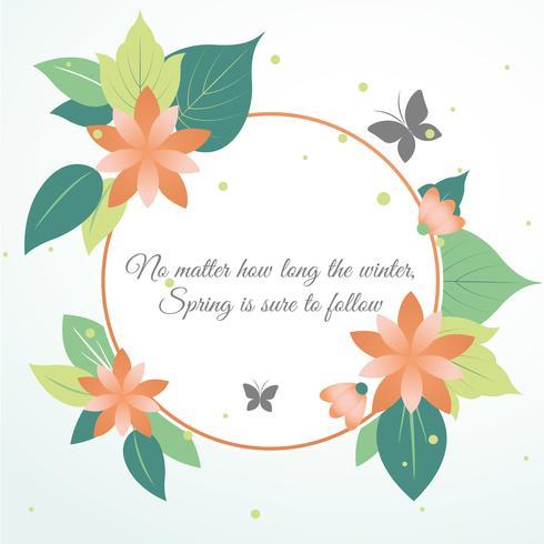 Design piatto primavera vettore cartolina d'auguri di design