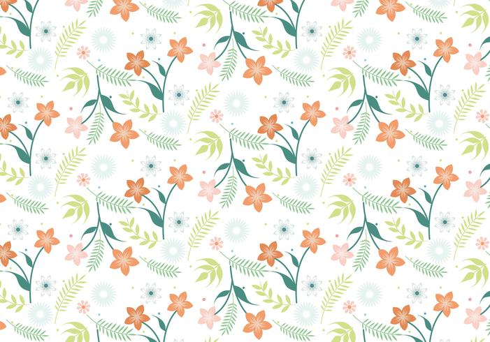 Design plat vecteur Printemps motif