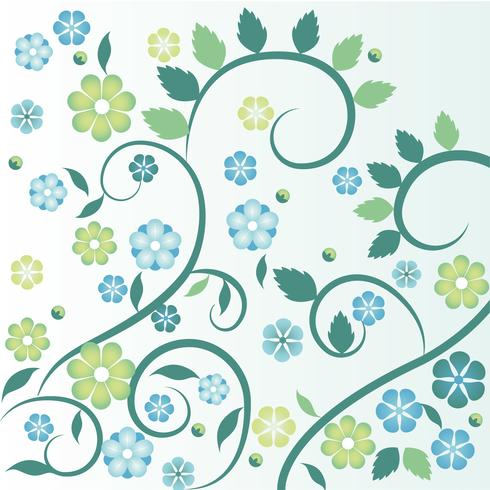 Flat Design Vector Spring Floral illustration