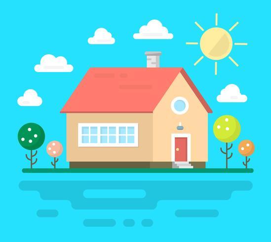 Casa unifamiliar vector