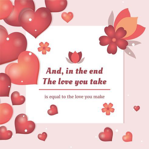 Flache Valentinstag-Vektor-Elemente
