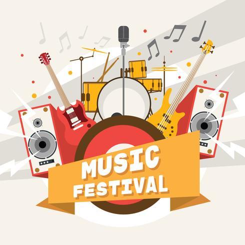 Affiche de festival de musique joyeuse