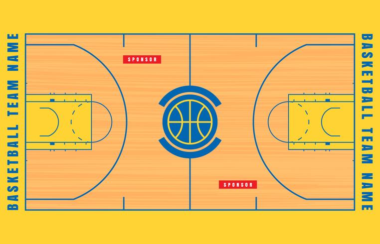 Illustration de plan d'étage Cour de basket-ball