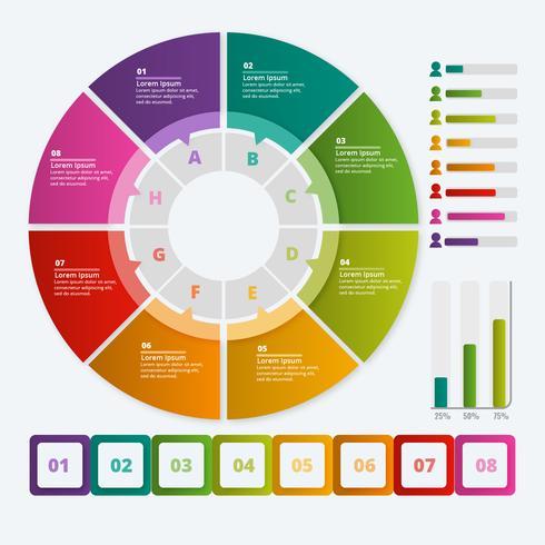 Infographies colorées de vecteur