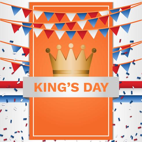 Kings Day Netherlands Poster Background Template