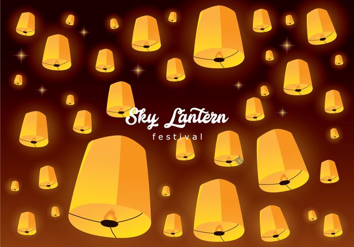 Sky Lantern Drijvende Achtergrond