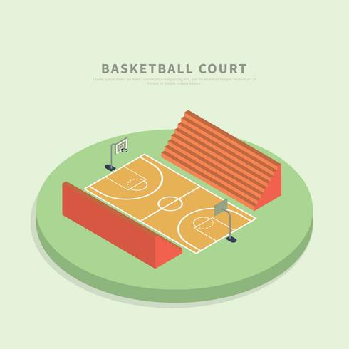 Isometrische Basketballplatz Illustration