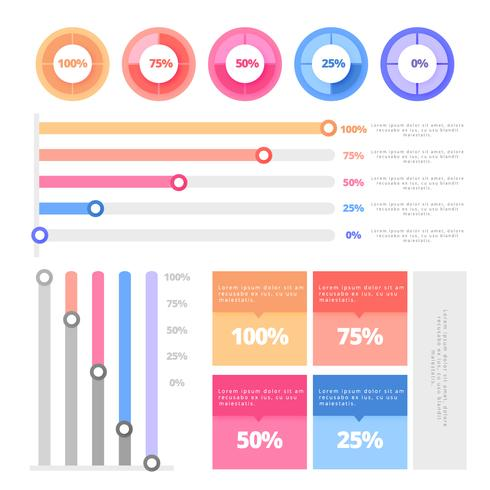 Vector Colorful Infographic Set