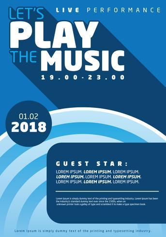 Retro Concert Music Poster