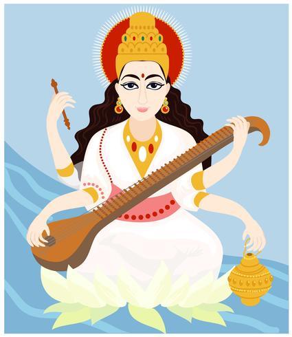 Saraswathi gudinna vektorer