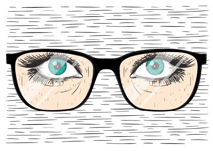 Vector Hand getrokken glazen met oog
