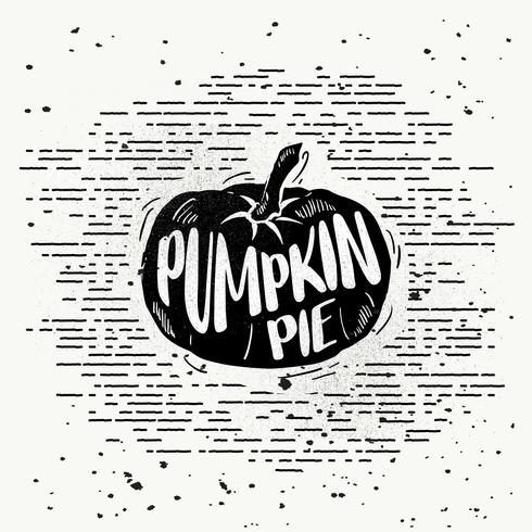 Hand-Drawn Pumpkin Silhouette Vector