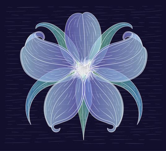 Vektor-Hand gezeichnete Blumen-Illustration vektor