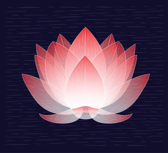 Vektor Hand gezeichnete Lotus Illustration