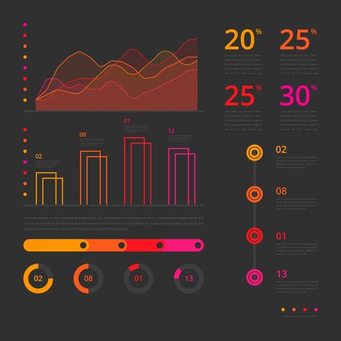 Data Visualization, Infographic Elements vector