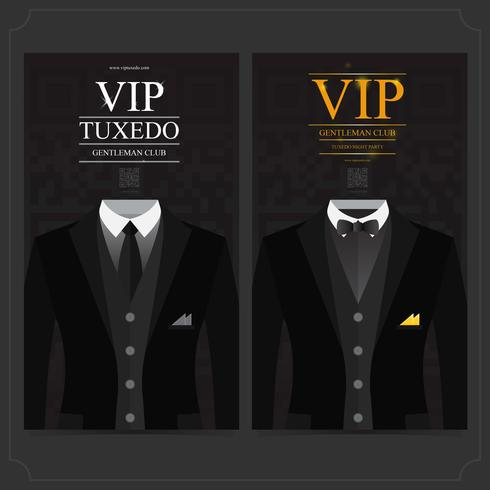 tux gentleman vip club vector