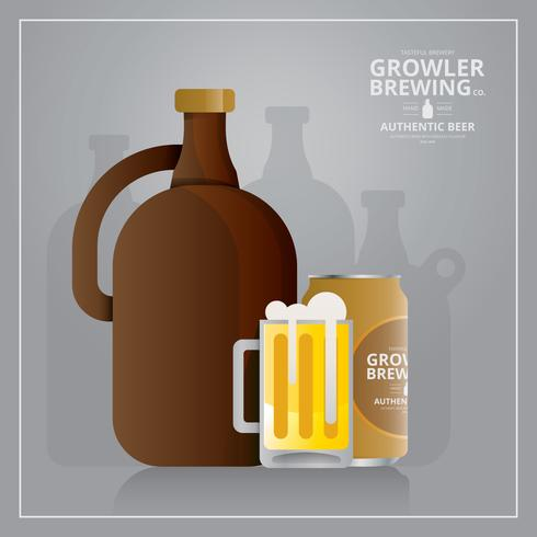 Logo de Grow Craft Beer Growler et symbole