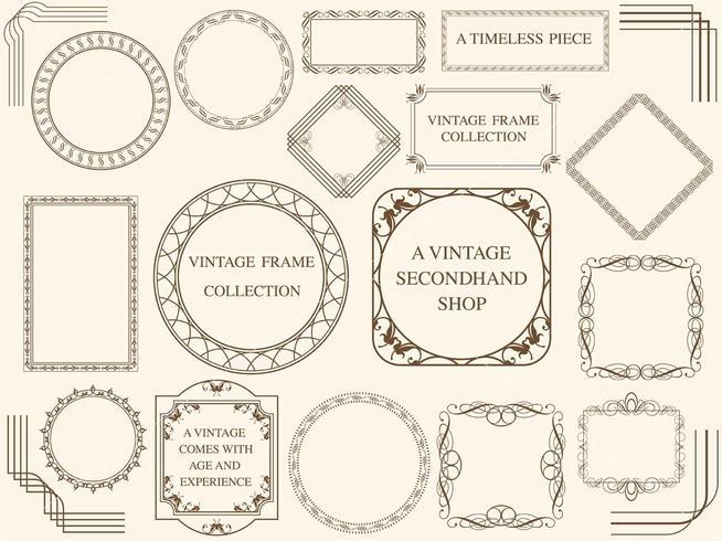 Een reeks geassorteerde uitstekende frames.