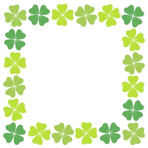Four-leaf clover square frame.