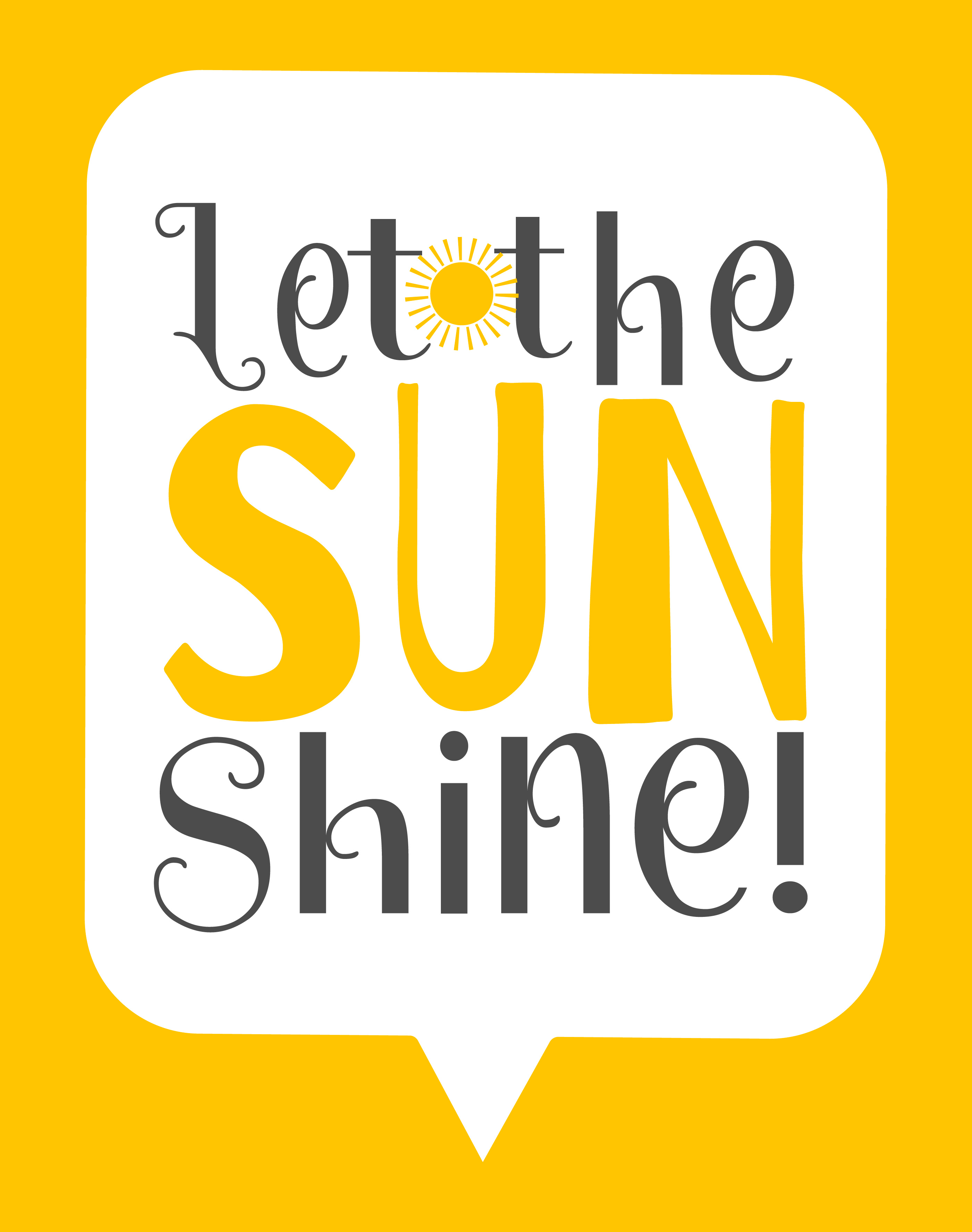 Let The Sun Shine Wall Art Poster - Download Free Vector Art, Stock ...