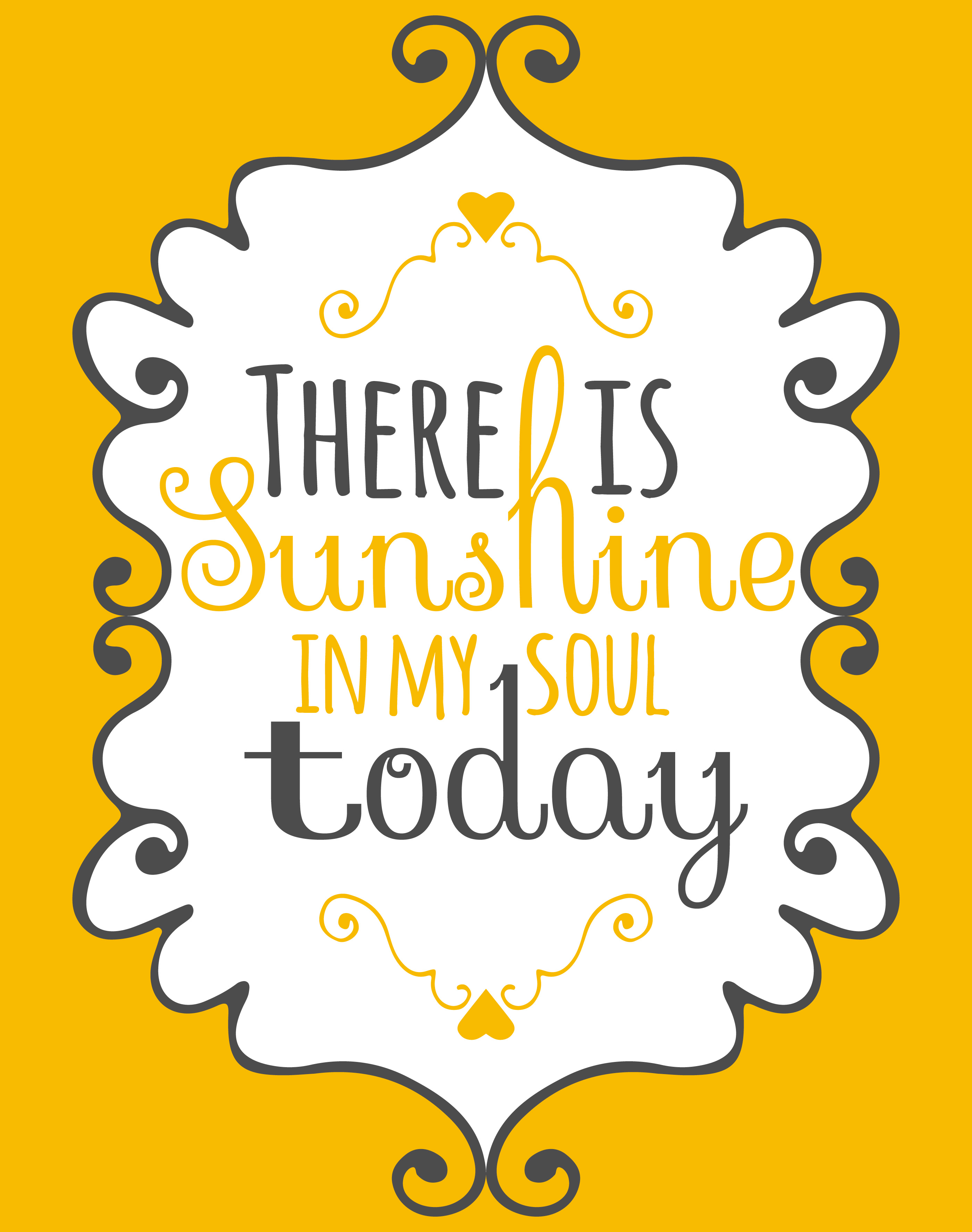 Sunshine in My Soul Wall Art Poster - Download Free Vector Art ...