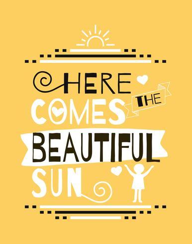 Beautiful Sun Wall Art Poster