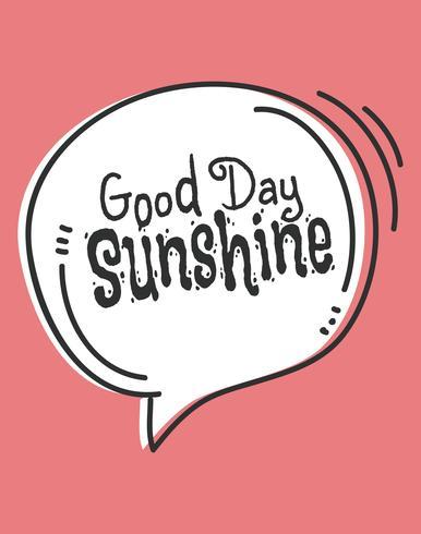 Cute Good Day Sunshine Wall Art Poster