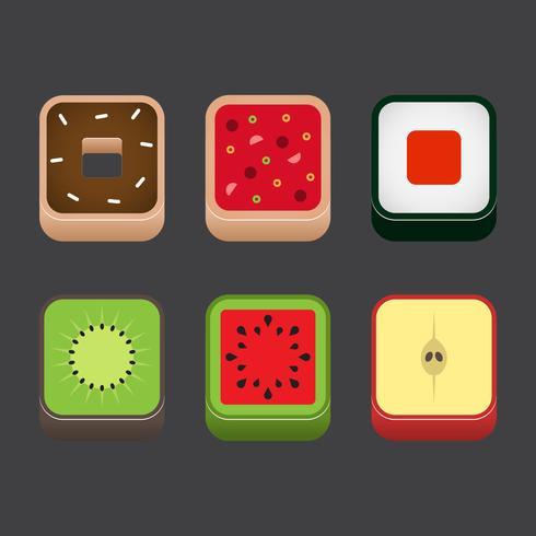 Food App Icon Vector