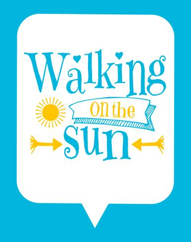 Cute Typographic Kids Poster with Sun Quote