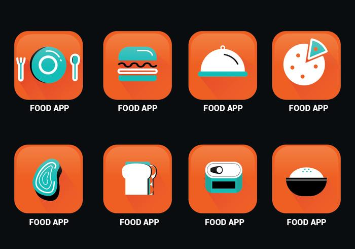 Food App Icon Vector Pack Download Free Vectors Clipart