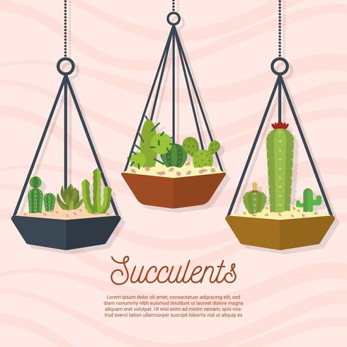 Flat Suckulent Vector Illustration